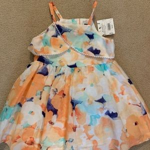 NWT Janie and jack Floral dress 18-24m